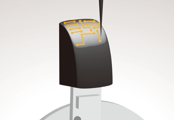 mounting on a curved surface with a 3D mounting machine