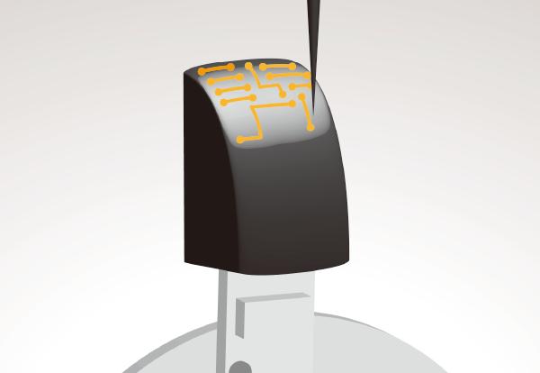三次元実装機による曲面実装