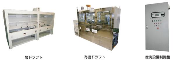 酸ドラフト 有機ドラフト 産廃設備制御盤