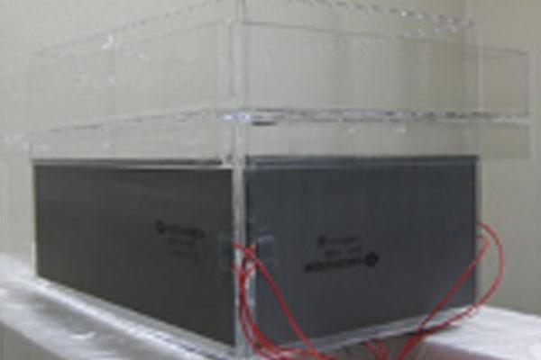 ラバーヒーター付き石英処理槽