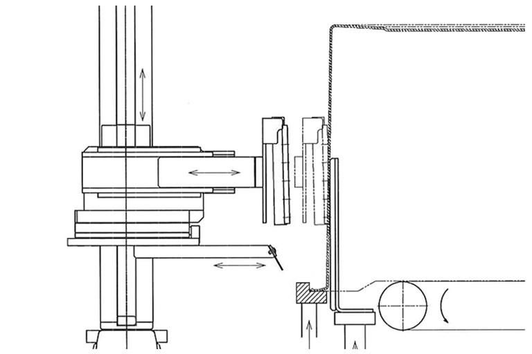 貼付け装置の吸着パット部分