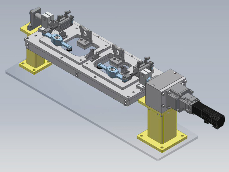 自動化省力化機器 バリ取りロボットシステムの構想図の作成