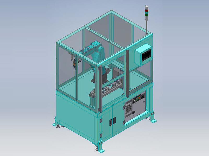 自動化省力化機器 バリ取りロボットシステムの外観図1