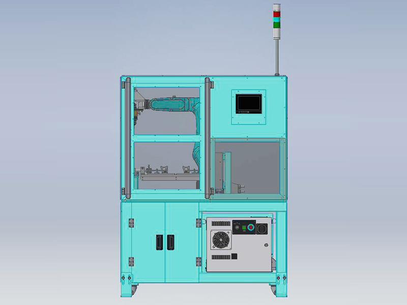 自動化省力化機器 バリ取りロボットシステムの外観図2