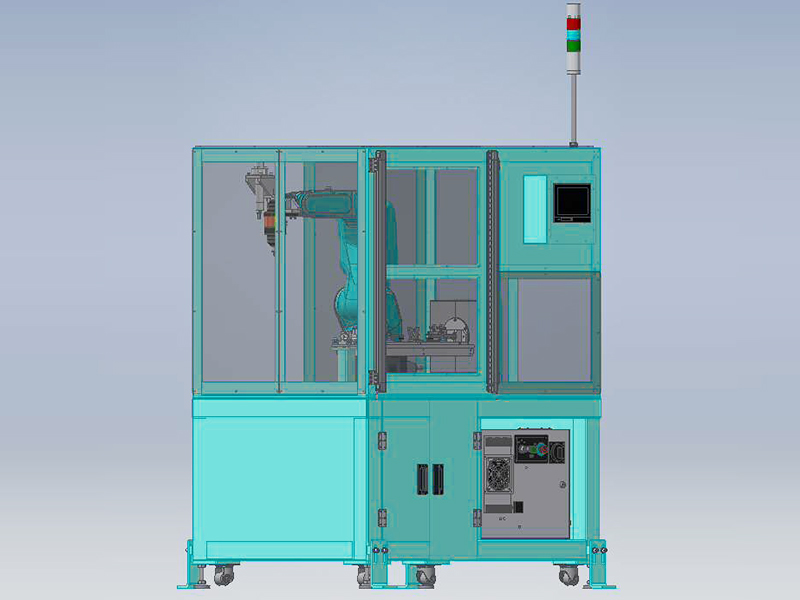 自動化省力化機器 バリ取りロボットシステムの外観図3