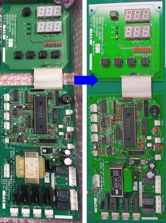 オリオン機械 (ORION MACHINERY) チラー表示器の基板修理