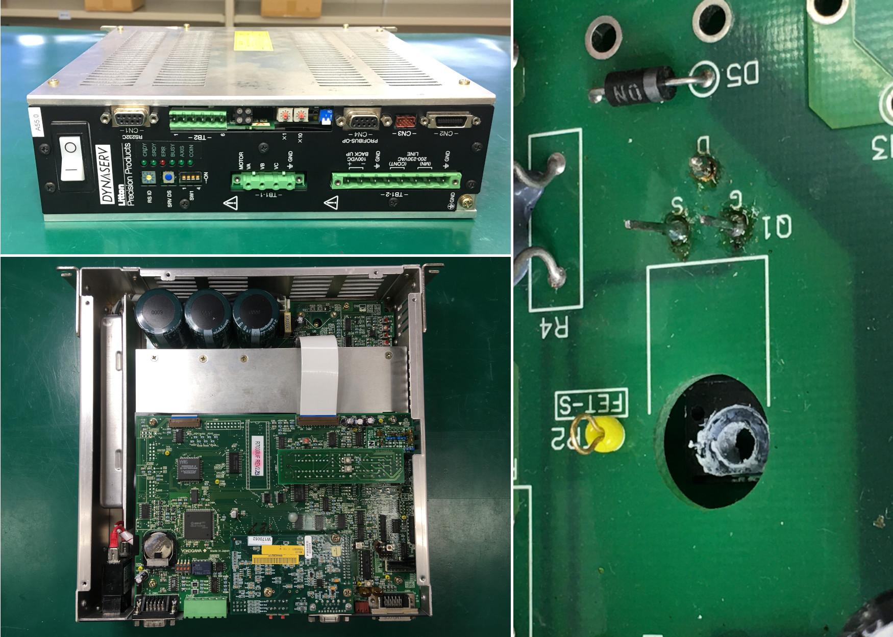 横河電機(YOKOGAWA)DDサーボモタードライバー UR1400A8KDの基板修理