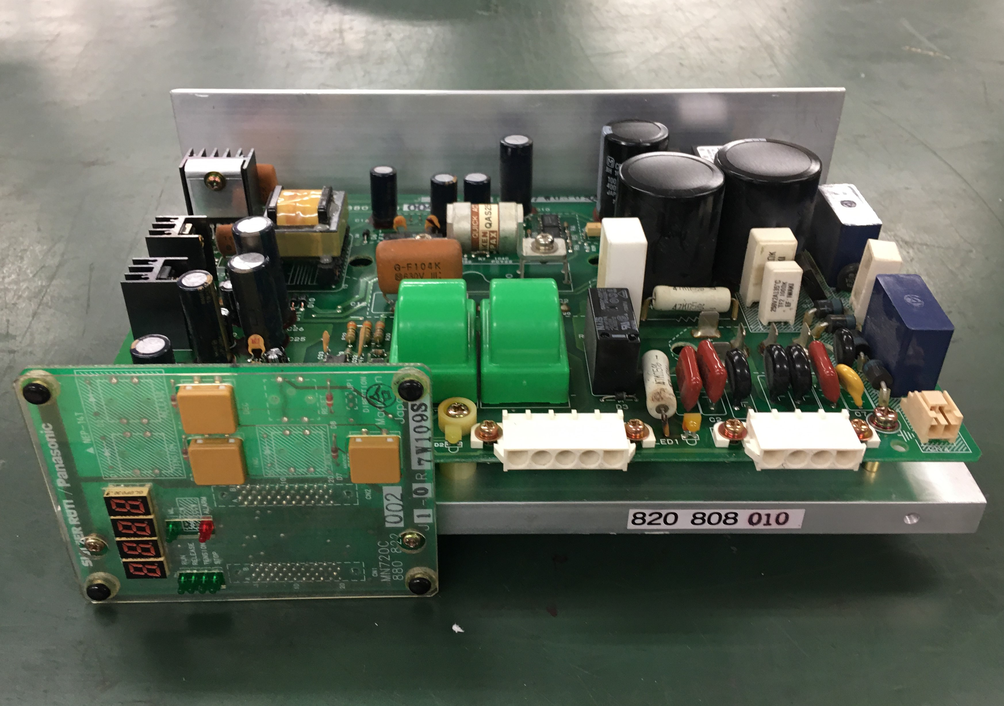 SULZER RUTI 織機用経糸送り出し基板(Panasonic コントロールユニット 700SR31)の修理