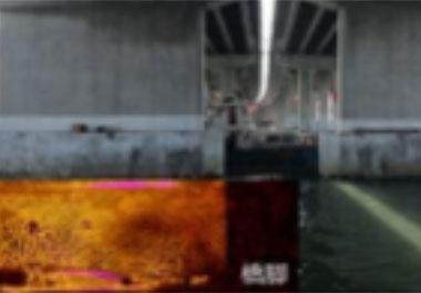 回転スキャンソナーによる調査(橋脚)