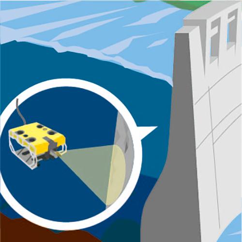 課題解決例 ダムの点検