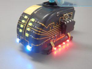 3D-MID(三次元射出成型回路)製品の3D実装(拡大図)をJOHNAN株式会社が担当